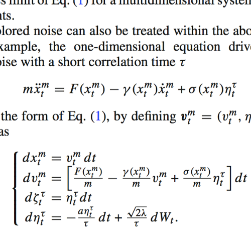 Smoluchowski-Kramers Limit of SDE published in Commun. Math. Phys.