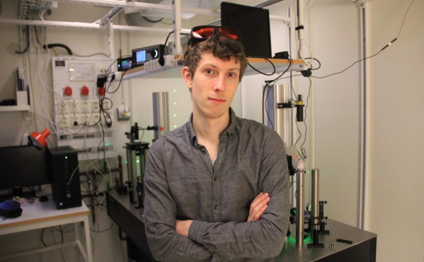 Falko Schmidt visits Cichos lab at University of Leipzig