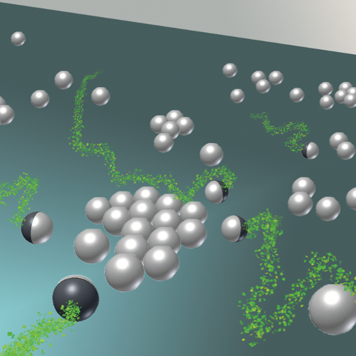 Influence of Active Particles on Colloidal Clusters published in Soft Matter