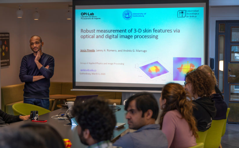 Seminar on Robust automated reading of the skin prick test via 3D imaging and parametric surface fitting by Jesús Pineda from Universidad Tecnologica de Bolivar, Nexus, 3 March 2020