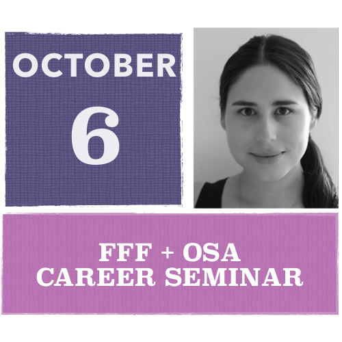 Career Seminar by OSA Ambassador Aura Higuera Rodriguez, 6 October 2020