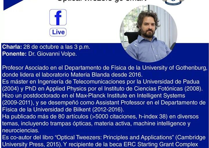 Invited talk by G. Volpe at OSA-EPN Student Chapter, 28 October 2020