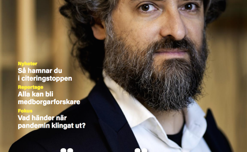 Article about Giovanni Volpe on GU Journalen